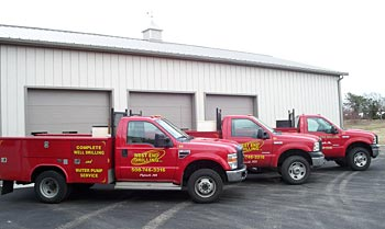 West End Drilling service trucks